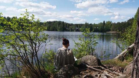 rentoutuminen ja rauhoittuminen luonto